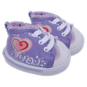 Purple Love Heart Shoes Teddy Bear Clothes Fit 14   18