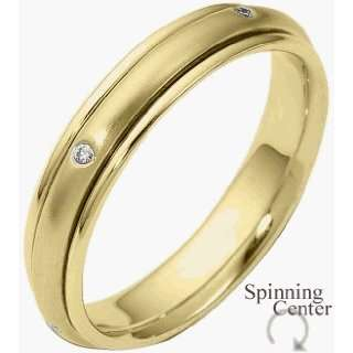 18 Karat Yellow Gold SPINNING Diamond Band, 0.05 TCW   4.5