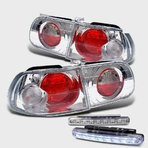 Eautolights 92 95 Honda Civic Hatch 3 Dr Tail Lights + LED