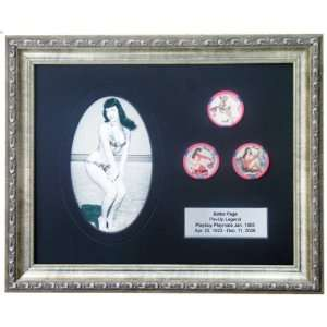 Limited Edition Framed Bettie Page Collectible