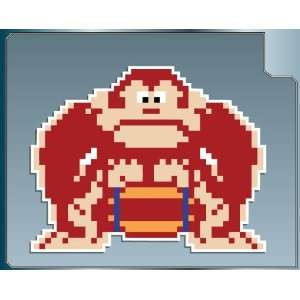 Donkey Kong with Barrel from Donkey Kong vinyl decal
