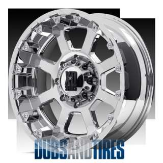 New 17 Inch KMC XD Series STRIKE Wheels CHROME Rims 5X5.5 ET 24