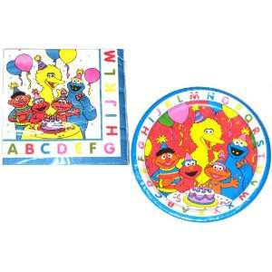 Sesame Street and Friends ABC Party Lunch Plates and