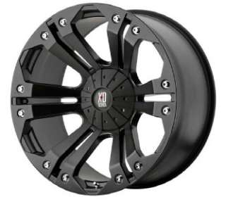 24 inch KMC XD Monster black wheels 6x135 Ford F150 +25