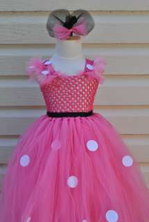 MINNIE MOUSE pink Tutu Dress birthday photograph baby shower party