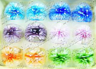 Jewelry Wholesale lots 3D flower murano glass rings new