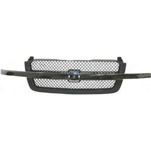 03 05 CHEVY CHEVROLET SILVERADO PICKUP GRILLE TRUCK, Textured, Bright