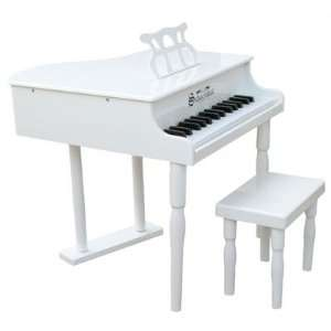 30 Key Classic Baby Grand Piano in White Toys & Games