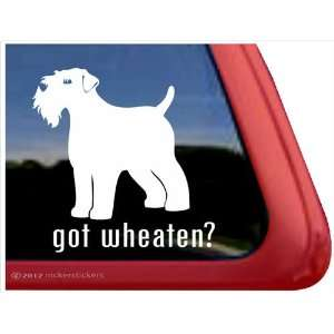 Got Wheaten? ~ Wheaten Terrier Dog Vinyl Window Auto Decal