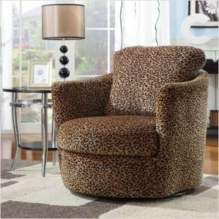 Wildon Home San Augustine Leopard Print Swivel Chair 900195