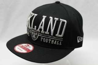 OAKLAND RAIDERS NFL NEW ERA 9FIFTY SNAPBACK HAT CAP LATERAL SNAP