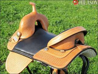 Hilason Treeless Western Trail Barrel Saddle 15 AW115