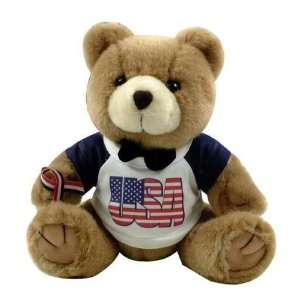 Patriotic Brown Teddy Bear   Plush Toy USA Toys & Games