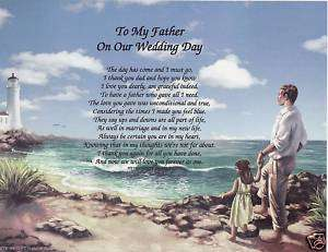 My Father on our Wedding Day Poem Personalized Name