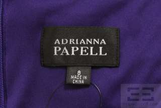 Adrianna Papell Purple Tiered Ruffle Cap Sleeve Dress Size 8