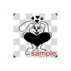 CARTOON FUNNY BUNNY WHITE VINYL DECAL STICKER Everything
