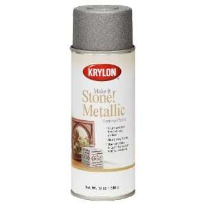 Make It Stone Metallic Textured Aerosol Spray Paint, 12 Ounce, Silver