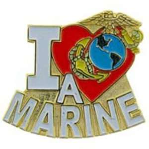 U.S.M.C. I Love A Marine Pin 1 Arts, Crafts & Sewing