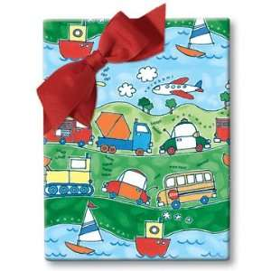 Transportation Theme Gift Wrap
