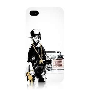Ecell   BANKSY HIP HOP GHETTO GRAFFITI WHITE HARD BACK CASE COVER FOR