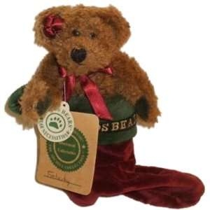 Boyds Bears Plush Felicity Elfburg Christmas Stocking 6