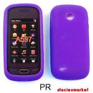 Light Purple Silicone Samsung Eternity 2 II A597 Case Cover