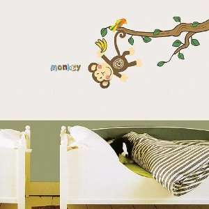 Modern House Monkey Land removable Vinyl Mural Art Wall Sticker Wall