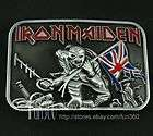 Famous IRON MAIDEN Killers Heavy Metal Band Evil Skeleton Belt Buckle