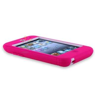 DEFENDER CASE for APPLE iPOD TOUCH 4th 4 G GEN PINK WHITE+Privacy Film