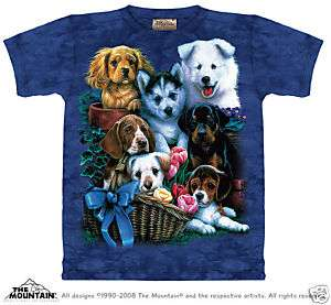 Mountain T Shirt   Puppy Collage   The Mountain Tee Shirt   Pets