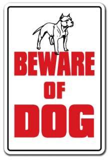 BEWARE OF DOG Sign dog pet parking pit bull signs security warning