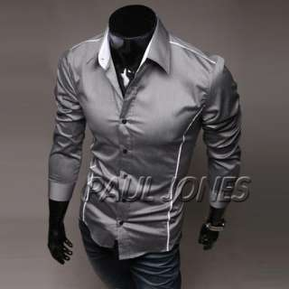 XS S M L 3Color for you NWT Men Casual Slim fit Stylish Formal Dress