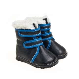 Baby toddler children kids black leather boots shoes for boys size 6