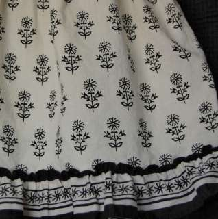 Baby Gap Formentera Black White Smocked Dress size 18 24 months Girl