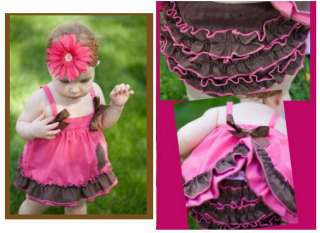 Baby Girls Toddler Ruffle Top Dress+Pants Set Size 0 3Y New Bloomers