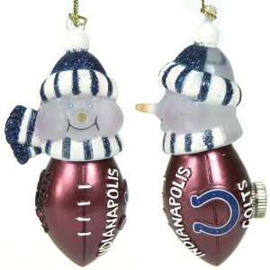 Pack 4 NFL Indianapolis Colts LED Lighted Football Snowmen
