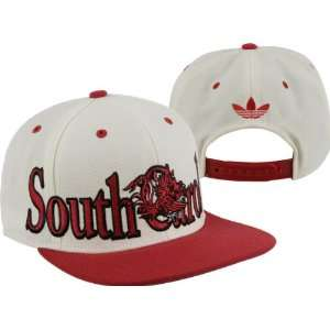 South Carolina Gamecocks adidas White Crown Snapback Hat
