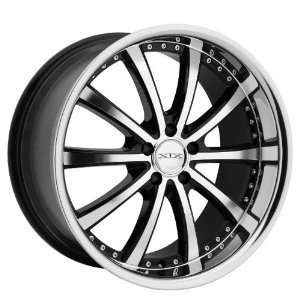 Xix X21 Staggered Wheels 20X8.5 20X10 BLACK W MACHINED FACE CHROME LIP