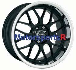 17 XXR 006 Black Polished Lip Staggered Wheels Rims 4 lugs 98 Nissan