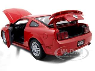 new 1 24 scale diecast car model 2005 ford mustang gt red die cast car