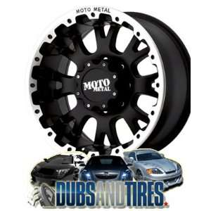 20 Inch 20x9 MOTO METAL wheels MO956 Matte Black w/ Machined Lip
