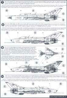 Decals 1/72 MIKOYAN MiG 21 FISHBED Russian Jet Fighter #1