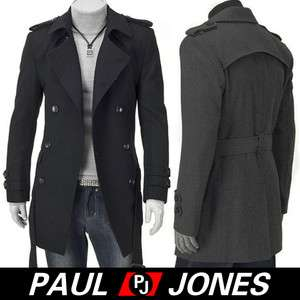 Men Stylish Slim Fit Jacket duoble pea Coat casual jacket overcoat
