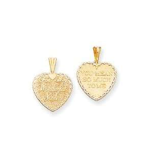 14k Sister Charm   Measures 32x36.9mm   JewelryWeb Jewelry