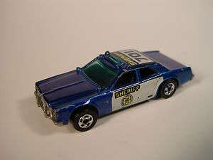 Hot Wheels 1977 701 Sheriff Police Car All Diecast 1/64
