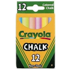 Crayola Chalk Multi Colors 12 Sticks Per Box (Pack of 12) 144 Chalk