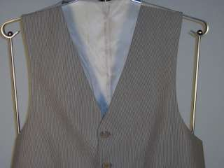 Ralph Lauren Mens Silk/Cotton Suit Vest Brown Beige New NWT Multi Size