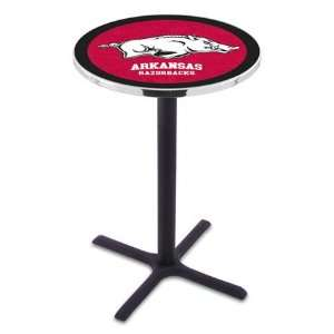 Arkansas Counter Height Pub Table   Cross Legs   NCAA