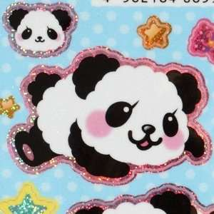 cute panda glitter sticker with stars moon Toys & Games