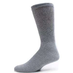 Sole Pleasers Mens Grey Diabetic Crew Socks   3 Pairs [Health and
